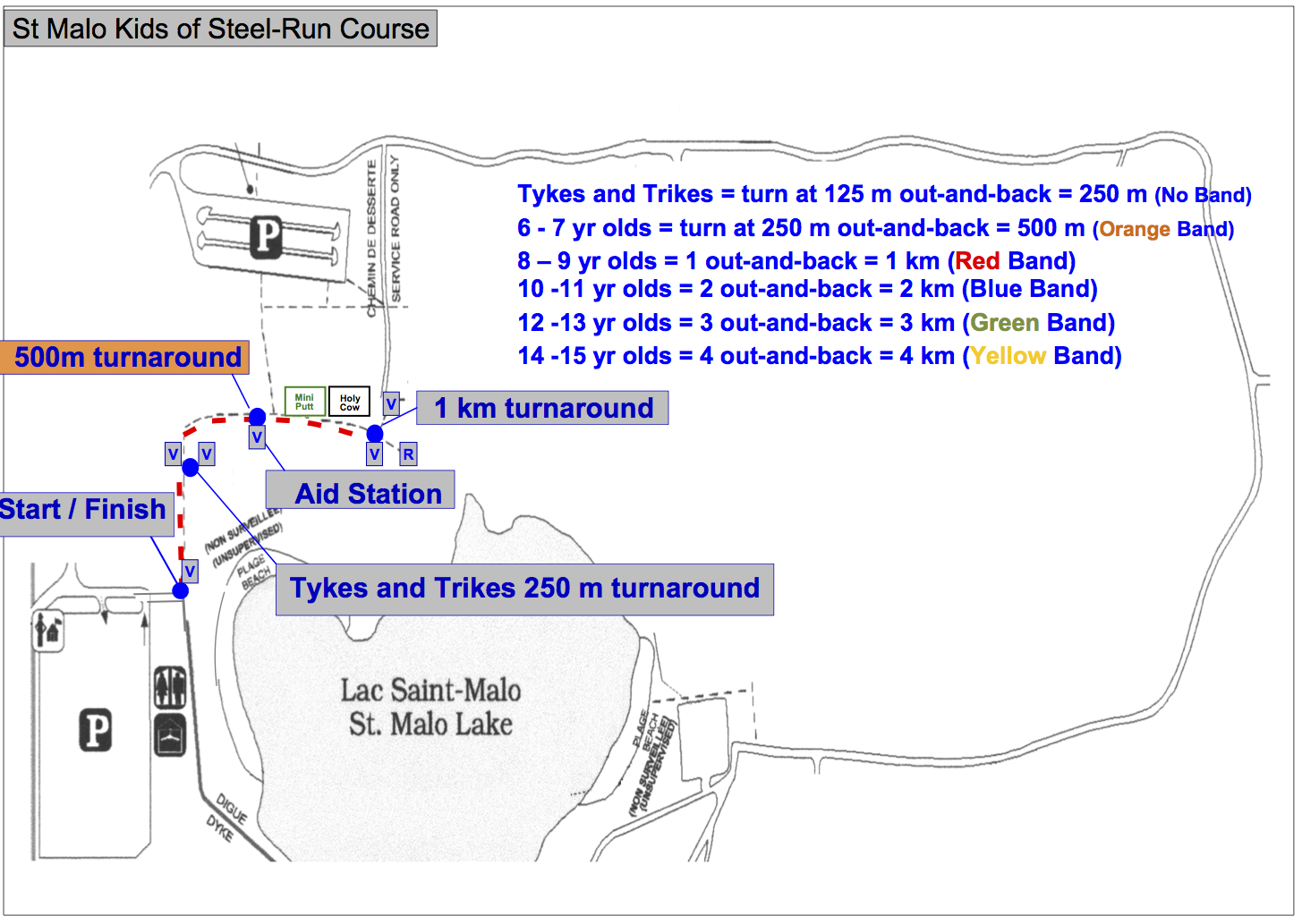 KOS Run Course Map